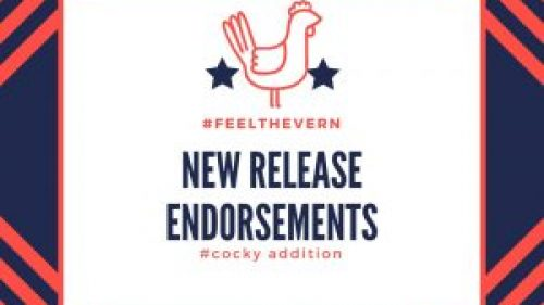 New Release Endorsements, cocky addition. 5/8/18